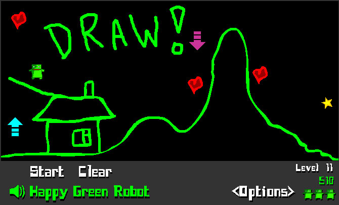 happy green robot gameplay