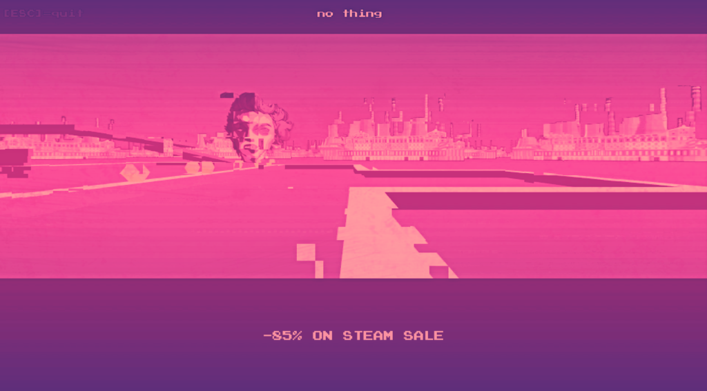 This image has an empty alt attribute; its file name is no_thing_steam_sale_2019_02-1024x567.png